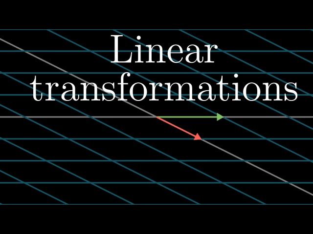 Linear transformations and matrices | Essence of linear algebra, chapter 3