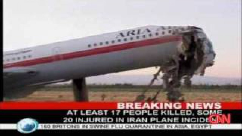 Aria Air Flight 1525 Ilyushin IL-62M Plane Crash In Iran Mashhad International Airport