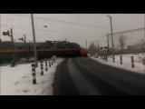 Беларусь. Поезд сбил трактор (06.01.2016 г.)