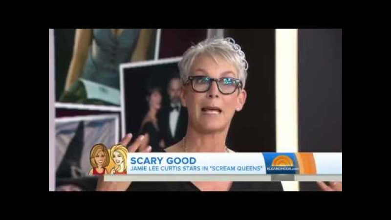 Scream Queens Jamie Lee Curtis Cries While Talking Latest Role Peoplecom
