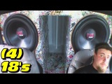 LOW TUNED Subwoofer WALL w 4 18