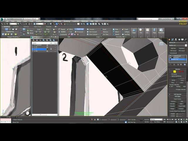 3D Max KF - №4 обдумываем и улучшаем топологию