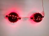 Шары новогодние, светодиодные, бывают красные, белые и синие, соединяются в цепь до 50 штук