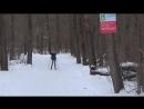 Лыжная разминка на 5 км. перед стартом -30.01.2016г. г.Бронницы