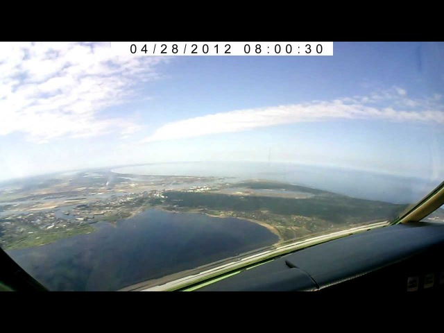 Landing in Riga Intl. Airport (EVRA), Latvia/ Посадка в Риге.