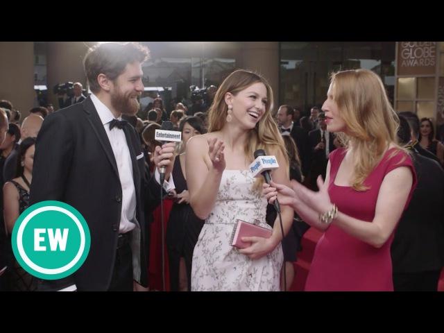 Интервью Мелиссы Беноист для EW и PEOPLE на «Golden Globe Awards»