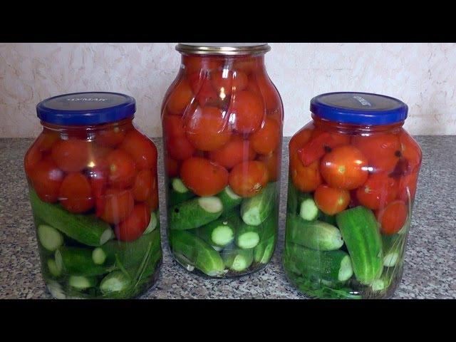 Вкусное АССОРТИ НА ЗИМУ огурцы и помидорки