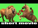 Short Film ||Lions To Attack the Tribal in Forest Riding Horse || 3D Cartoons For Kids Entertainment