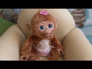 Смешливая Обезьянка Интерактивная игрушка FurReal Friends Cuddles My Giggly Monkey Pet