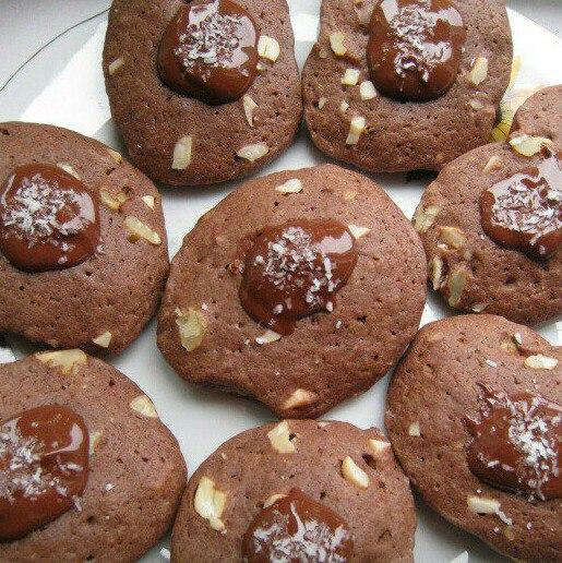 жаңғақ пен какао қосылған печенье