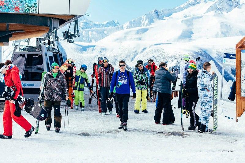 В зимнем сезоне на курорте «Архыз» отдохнули около 130 тысяч человек