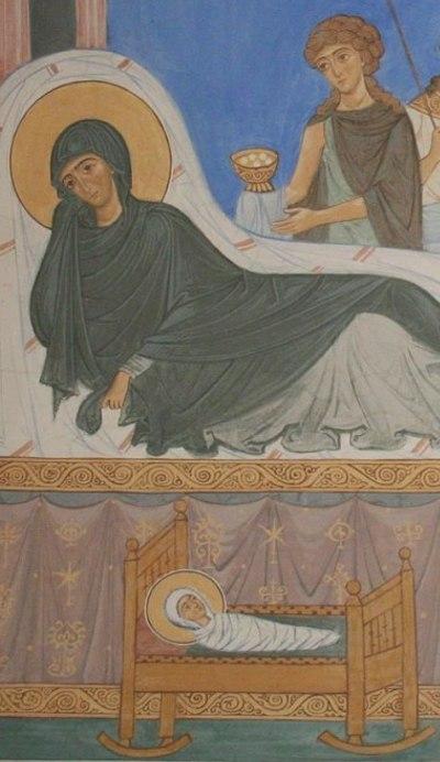 Фрагмент фрески Рождества Иоанна Предтечи
