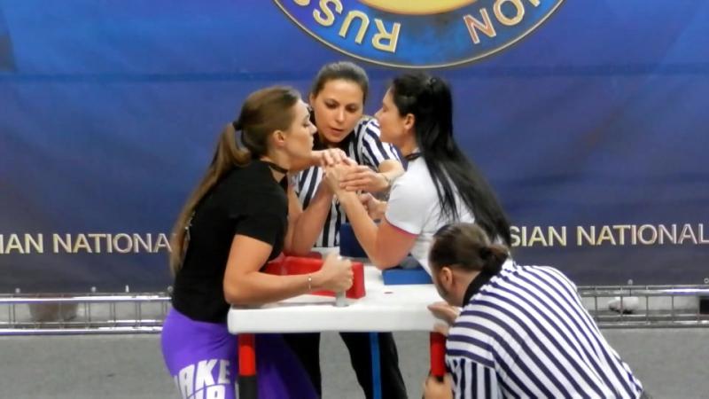 Никишева vs. Гладкая, финал 65кг, Чемпионат России по Армрестлингу 2016