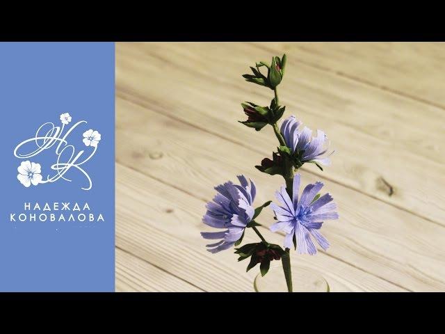 Полевые цветы из фоамирана - цикорий из фоамирана