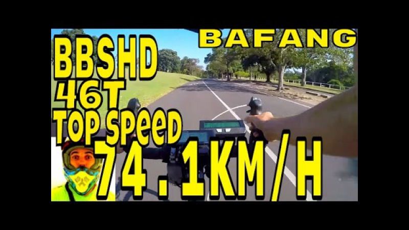 Bafang BBSHD 1000w mid-drive • 74.1kmh top speed on flat (46T) • Electric Bike 48v BBS02 8fun motor