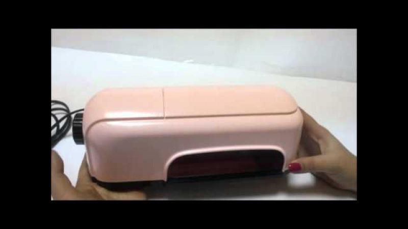Лампа Ультрафиолет YRE розовая 9 Вт с таймером