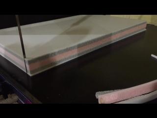 Изготовление ортопедического пяти слойного детского матраса