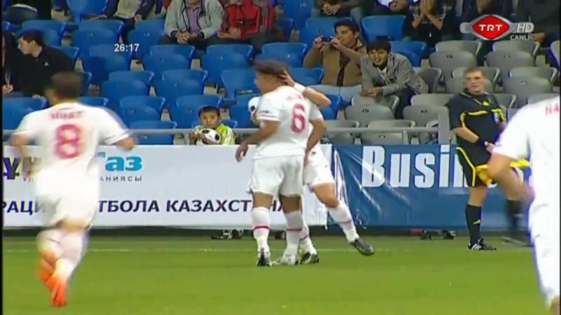 2010: Хамит Алтынтоп (Сборная Турции, в ворота сборной Казахстана)