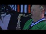 Олег Киреев исполняет гимны РФ и РБ