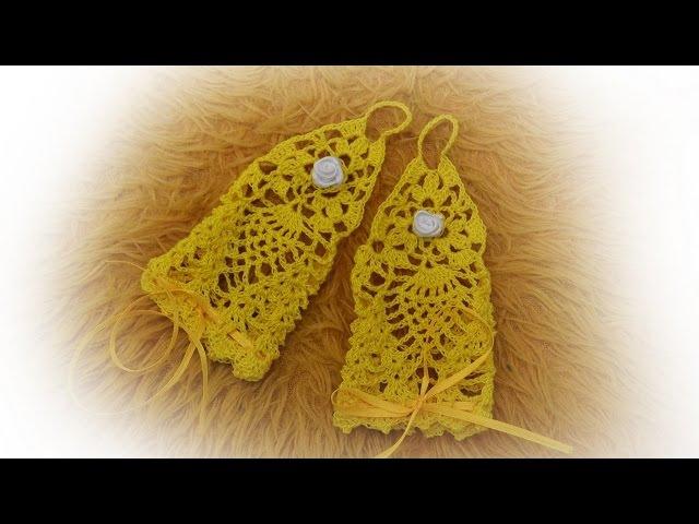 Ажурные митенки для карнавального костюма крючком Crochet fingerless mittens gloves tutorial