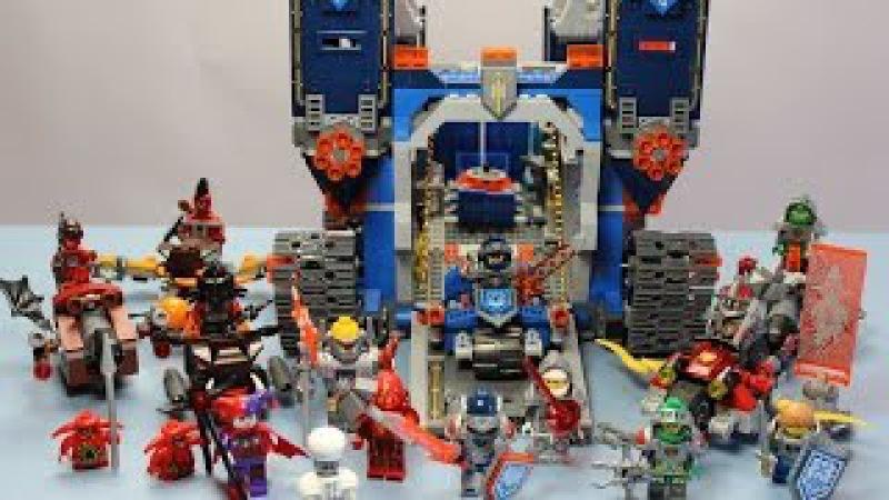 Лего Нексо Найтс ВСЕ персонажи Фортрекс мобильная крепость Обзор Lego Nexo Knights Fortrex раз
