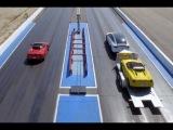 Dragrace: Alfa Romeo 4C vs Alfa Romeo 4C (на прицепе у Tesla Model X)