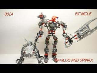 Обзор сборка Лего Бионикл Максилос и Спинакс. Review do set 8924 - Maxilos & Spinax.