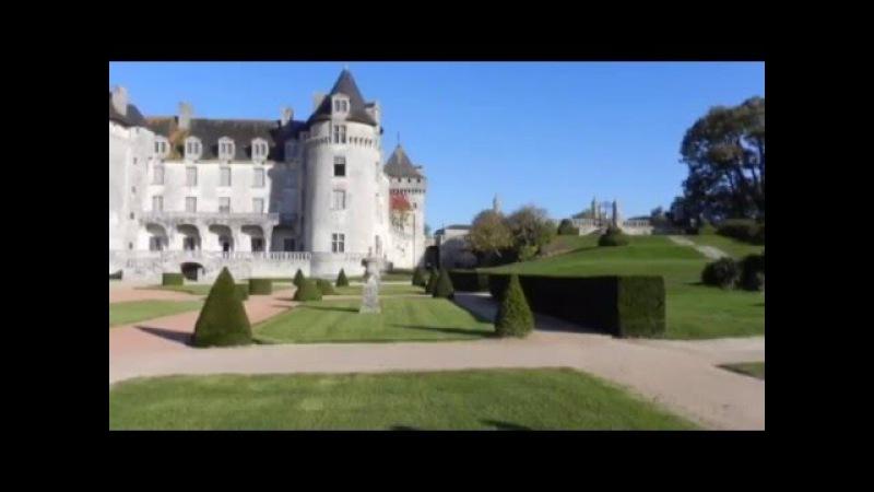 Ла Рош Курбон большой замок шато Франция La Roche Courbon