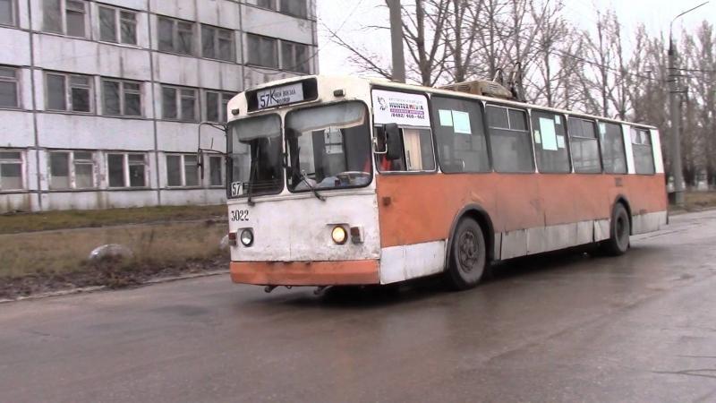 Заезд троллейбуса ЗиУ 682В в депо №3 неисправность гидравлики г Тольятти