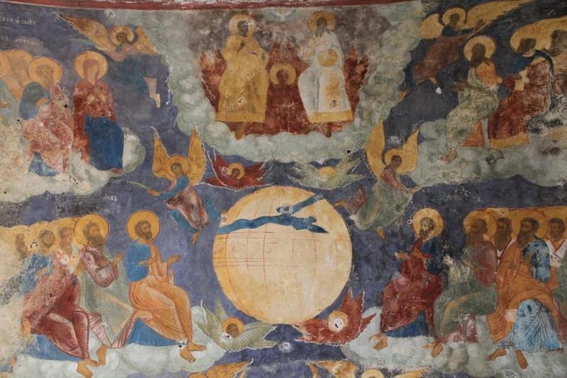 Фреска на своде галереи храма св.Ильи Пророка в Ярославле