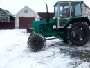 ЮМЗ 6КЛ с передневедущим мостом на снегу. - YouTube