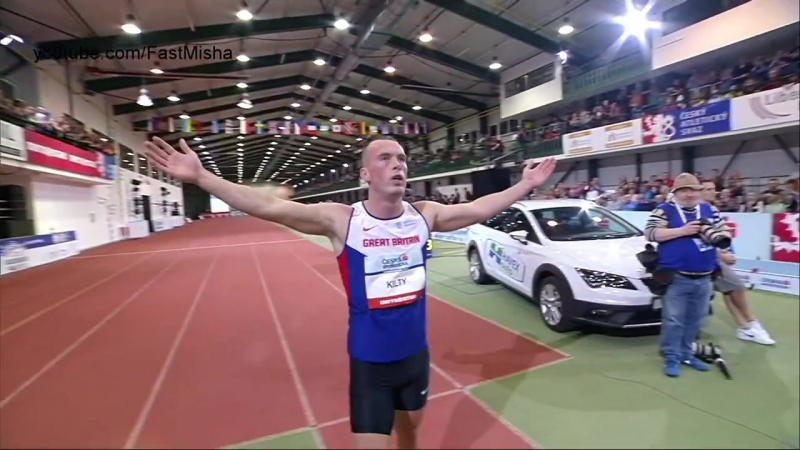 Richard Kilty 6.50s 60m Final - Jablonec Indoor Gala 2016