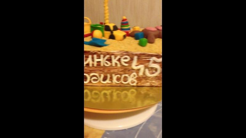 торт песочница внутри терамису