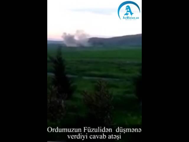Азербайджанская армия наносит карательные ракетные удары по позициям армян! Ordumuzun Füzulidə düşmənə verdiyi cavab atəşi