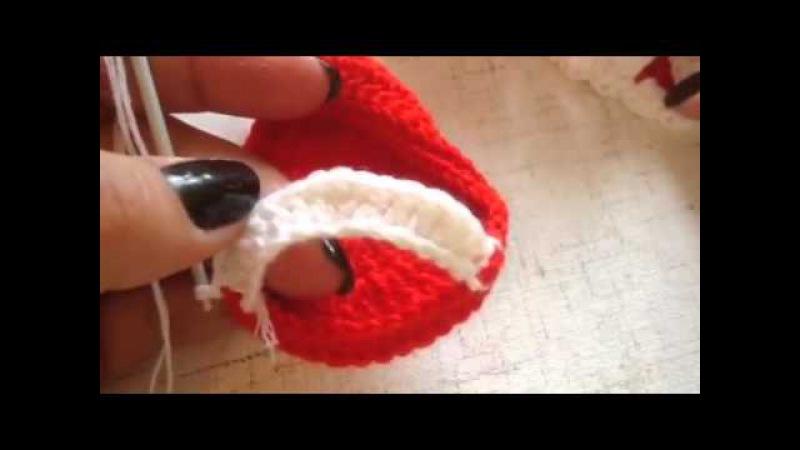 Вяжем пинетки-сандали крючком. Часть 1.