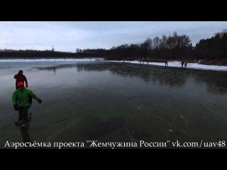 Аэросъёмка начала зимы: первый лёд
