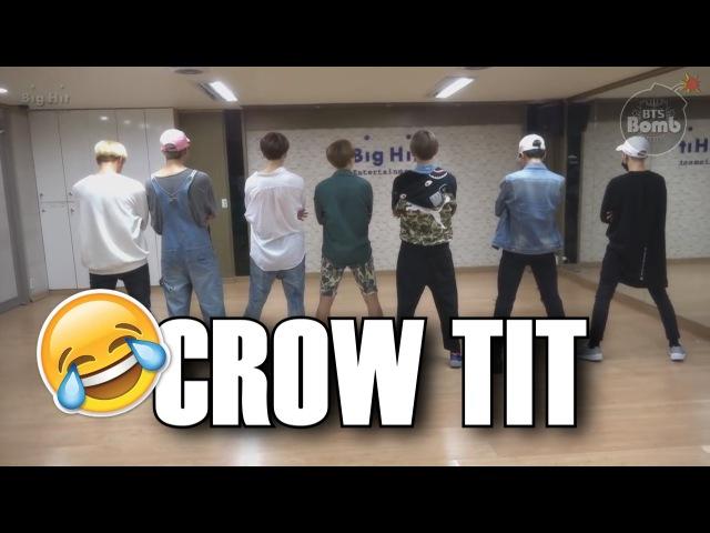 RUS SUB BTS `Crow tit` Dance Practice Fun ver