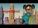 Английский язык для малышей Мяу Мяу Супергерой SuperHero учим английский