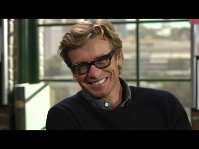 Simon Baker 2012 11 on Larry King Now - part 2