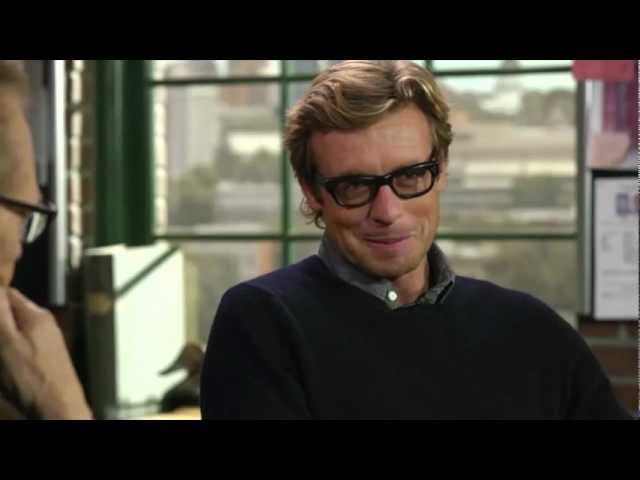 Simon Baker 2012 11 on Larry King Now - part 1