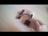 Unboxing #9 Micro Mini HDMI to VGA Converter Adapter with Audio Cable