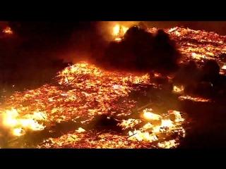 Мощнейший пожар в американском городе Гилберт в пригороде Финикса, штат Аризона (24.04.2016)