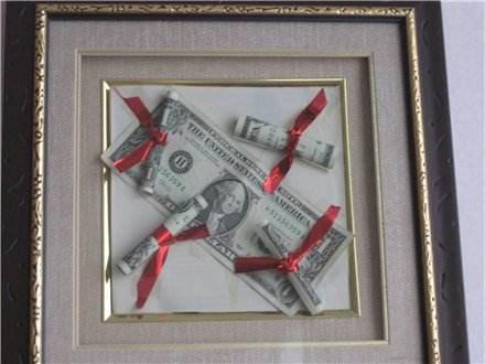 картина с долларами