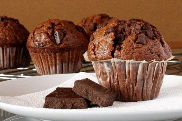 Маффины с шоколадом с фото пошагово