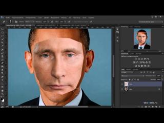 Как заменить лицо в Фотошопе CS5, CS6_HD