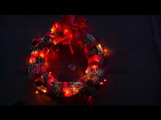 Наш сияющий Рождественский веночек, на двери нашего домика )) г. Несвиж, ул. Дзержинского, 52 ))