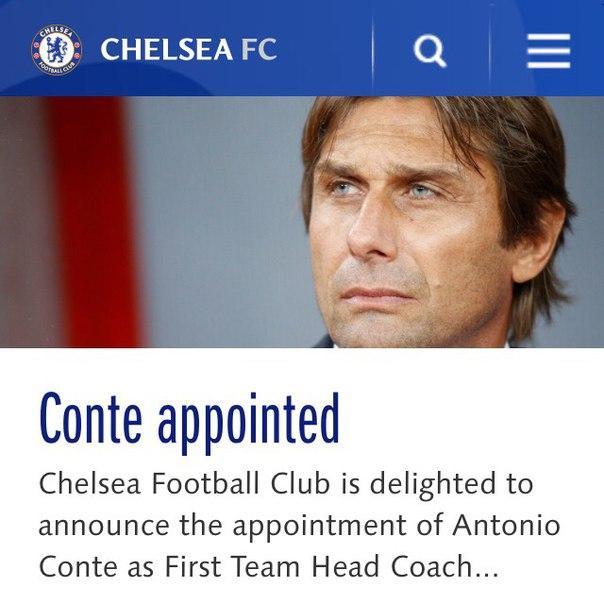 Конте - тренер Челси