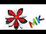 заколочка с завитками и божьей коровкой/Clip with swirls and ladybug