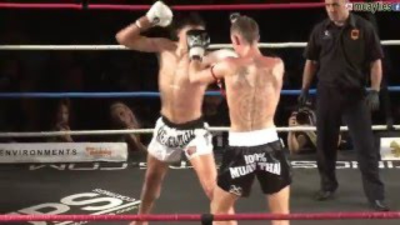 Muay Thai Fight - Lund vs Deatta, Rebellion Muay Thai, Melbourne- 28th November 2015