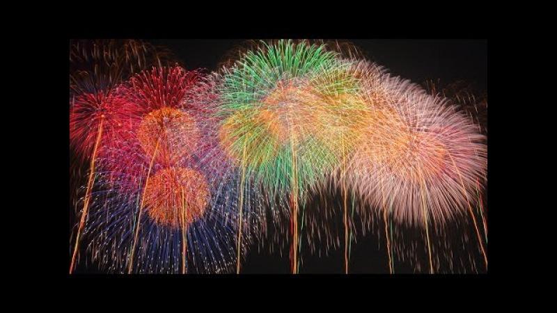 【4K】2015 World Aerial Fireworks Shell こうのす花火大会 世界一 魂のラストスターマイン「鳳凰